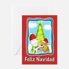Feliz Navidad Xmas gift Greeting Card