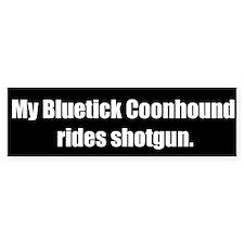 My Bluetick Coonhound rides shotgun