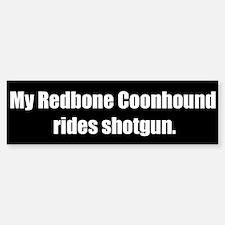 My Redbone Coonhound rides shotgun