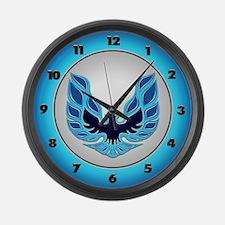 Firebird / Trans Am - Blue Large Wall Clock