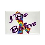 Autism I Do Believe Rectangle Magnet (100 pack)