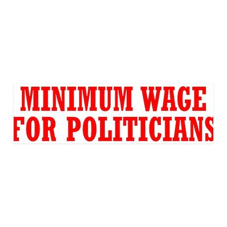 Minimum Wage 36x11 Wall Decal