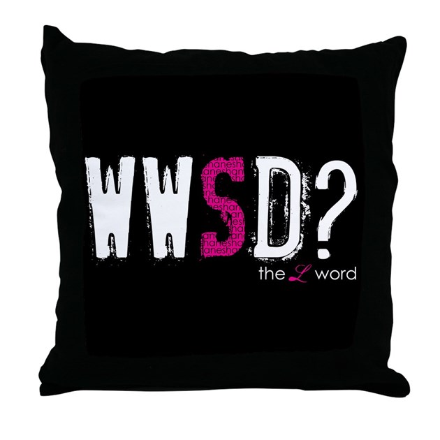 Throw Pillow With The Word Home On It : the L word Throw Pillow by SamsPlaceApparel