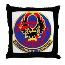 201st Airlift Squadron Throw Pillow