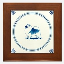 Dutch Style Keeshond Framed Tile