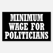 Minimum Wage Sticker (Rectangle)