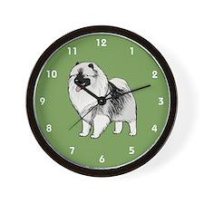 Keeshond Wall Clock