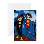 Cute Superhero Greeting Card