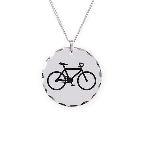 Klaar Bike Gear Necklace Circle Charm
