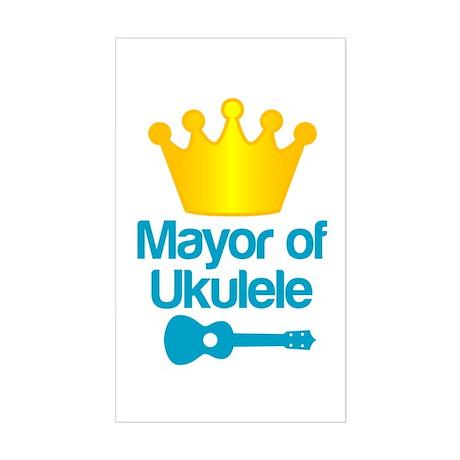 Mayor of Ukulele Sticker (Rectangle)