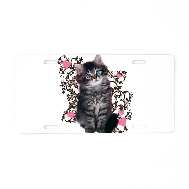 Cute Kitten Kitty Cat Lover Aluminum License Plate by