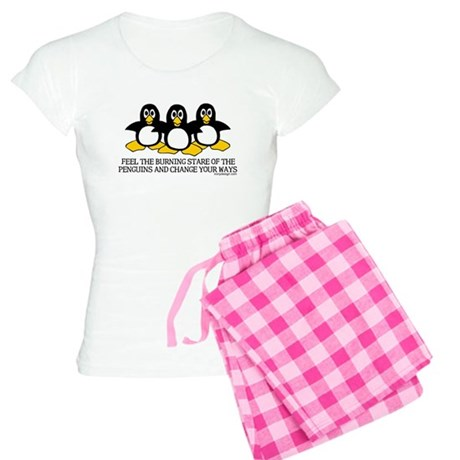Burning Stare Penguins Women's Light Pajamas