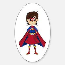 Cute Superhero Girl Decal