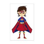 Cute Superhero Girl Mini Poster Print