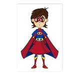Cute Superhero Girl Postcards (Pk of 8)