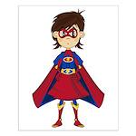 Cute Superhero Girl Small Poster