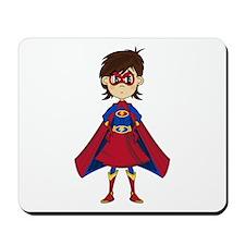 Cute Superhero Girl Mousepad