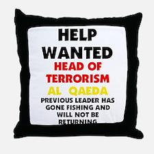 Bin Laden Gone Throw Pillow