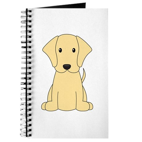 Cartoon Yellow Lab Journal