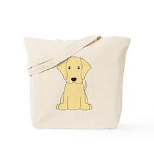 Cartoon Yellow Lab Tote Bag
