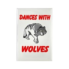 Dance with wolves Rectangle Magnet (10 pack)