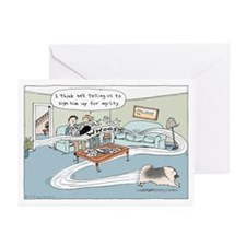 Agility Keeshond (he) Greeting Cards (Pk of 10)