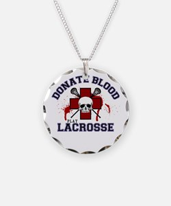 Donate Blood Play Lacrosse Necklace
