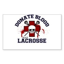 Donate Blood Play Lacrosse Decal