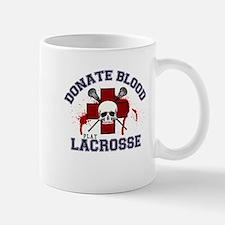 Donate Blood Play Lacrosse Mug
