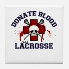 Donate Blood Play Lacrosse Tile Coaster
