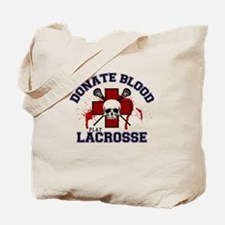Donate Blood Play Lacrosse Tote Bag