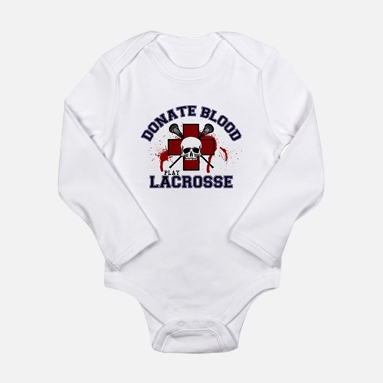 Donate Blood Play Lacrosse Long Sleeve Infant Body