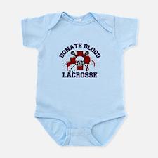 Donate Blood Play Lacrosse Infant Bodysuit