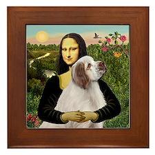 Mona/Clumber Spaniel Framed Tile