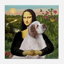 Mona/Clumber Spaniel Tile Coaster