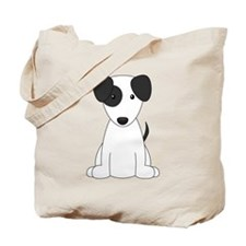 Cartoon Jack Russell Terrier {black} Tote Bag