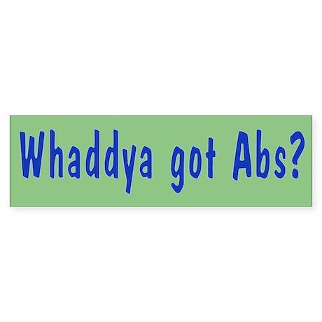 NCIS: Whaddya Got Abs? Sticker (Bumper 50 pk)
