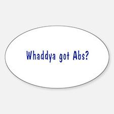 NCIS: Whaddya Got Abs? Decal