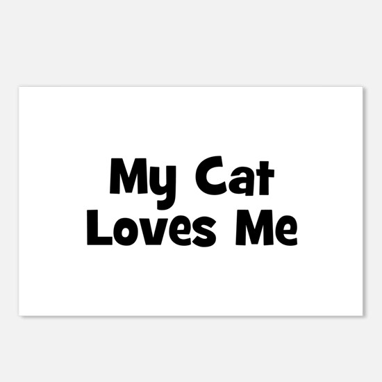 My Cat Loves Me Postcards (Package of 8)
