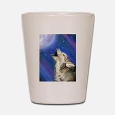Wolf and Full Moon Shot Glass