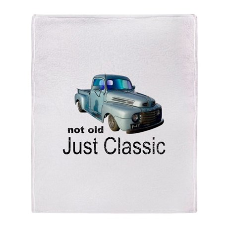 Not Old Just Classic Throw Blanket