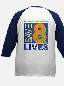 Save 8 Lives Kids Baseball Jersey