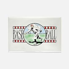 Vintage Baseball Logo Magnet