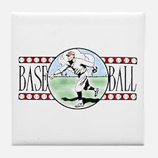Vintage Baseball Logo Ceramic Coaster
