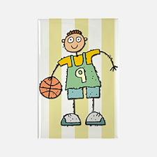 Boys Basketball Rectangle Magnet