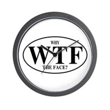 WTF Why The Face? Wall Clock