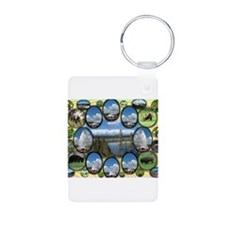 Yellowstone Park Aluminum Photo Keychain