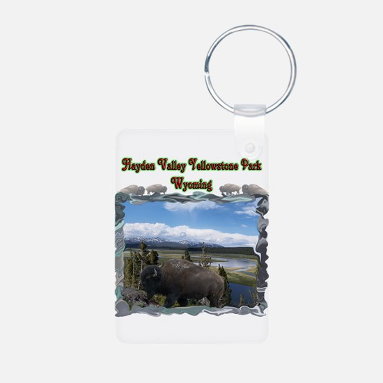 Hayden Valley Aluminum Photo Keychain