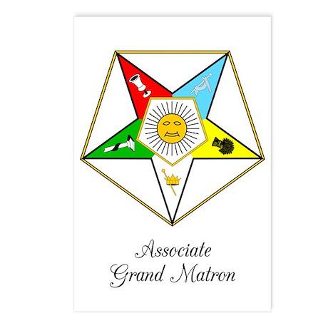 Associate Grand Matron Postcards (Package of 8)