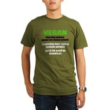Rejecting violence mens T-Shirt
